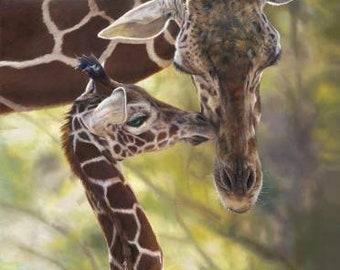 "On Safari Giraffes Poster Panel 36'x44"" by Riley Blake On Safari Collection Quilt Fabric Panel"
