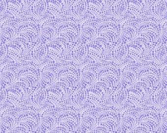 Cat-i-tude 3 Singing The Blues, Purple Beaded Swirls Tonal Fabric / Catitude by Benartex / catitude Yardage and Fat Quarters