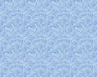 Cat-i-tude 3 Singing The Blues, Blue Beaded Swirls Tonal Fabric / Catitude by Benartex / catitude Yardage and Fat Quarters