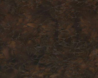 Brown Wavy Dots Batik Cotton Blenders Fabric / Batik Fabric by the yard / Island Batiks BE27-F3 / Batik Fat Quarters and Yardage