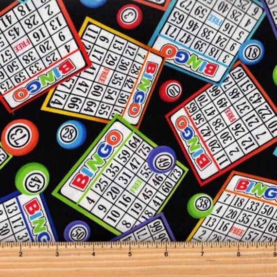 Fat Quarter Bingo Board Cotton Quilting Sewing Patchwork Fabric C5200
