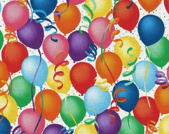 Balloons Yardage / Celebrate Good Times Fabric / Birthday Fabric / Party by the yard / Hoffman Q4400 Party Fabric by the yard & Fat Quarters