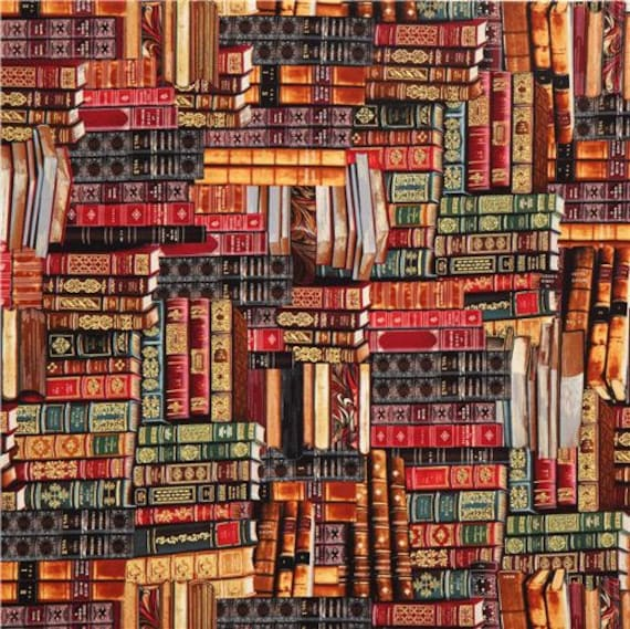 Library Books Fabric Harry Potter Fabric Yardage
