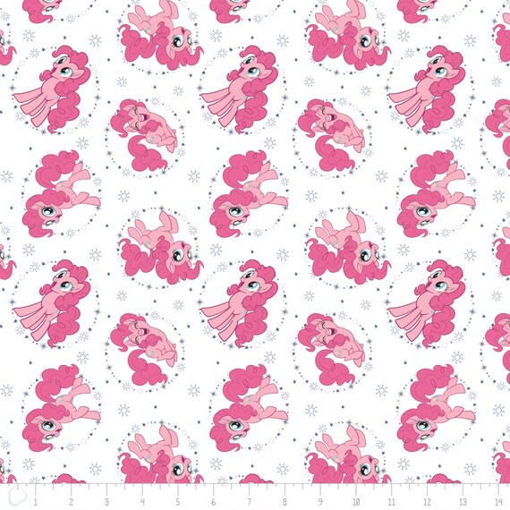 MY LITTLE PONY WHITE POLYCOTTON FABRIC 1//2 METER