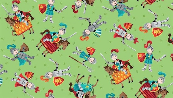 CLEARANCE PATCHWORK//CRAFT FABRIC 100/% COTTON MAKOWER DRAGONHEART KNIGHTS