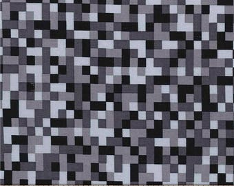 Minecraft Fabric / Bitmap Fabric / Black Minecraft by the yard / Minecraft Style Yardage Michael Miller cx7029 / By The Yard and Fat Quarter