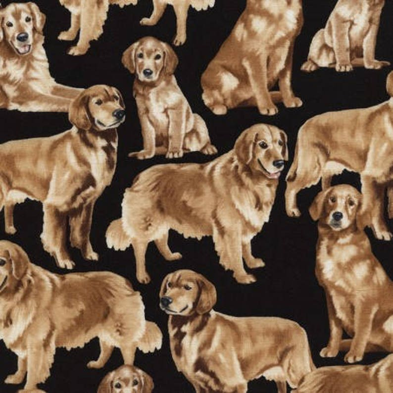 QT ~ Chocolate Golden Black Labrador Puppies Dogs ~ 100/% Cotton Quilt Fabric BTY