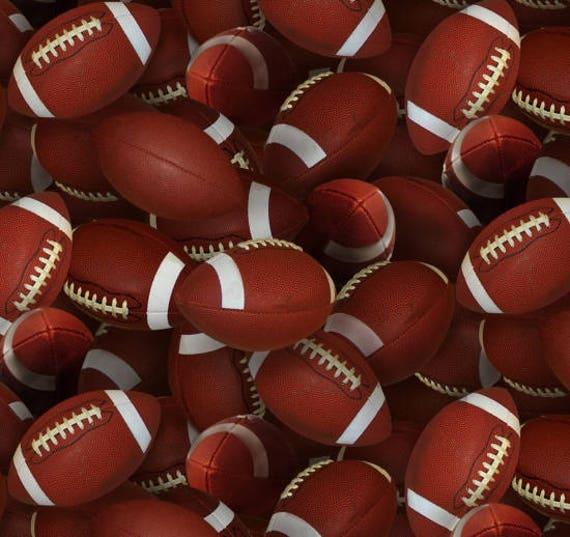 Football Fabrics Football Yardage Footballs Toss Etsy