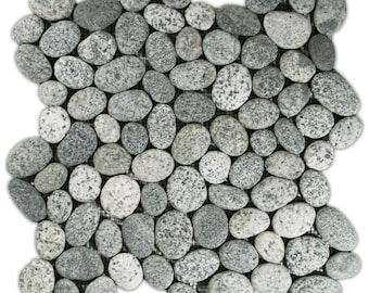 Hand Made Pebble Tile - Speckled 1 sq. ft. - Use for Mosaics, Showers, Flooring, Backsplashes and More!