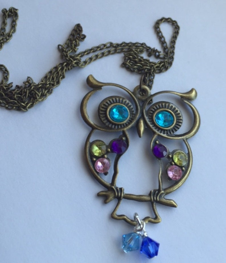 Owl pendant necklace For Mother/'s day anniversary grandma For Mom birthday