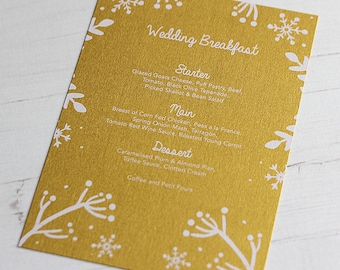 Winter Festive Menu Card