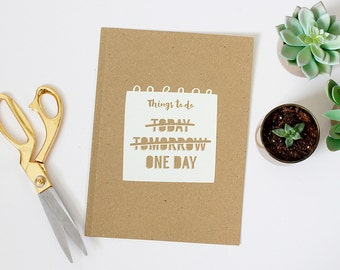 A5 Notebook / A5 Notepad / Kraft Notebook / Things to Do