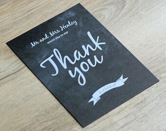 Chalkboard Vintage Thank You Card