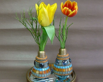 Pair of Vases with Base