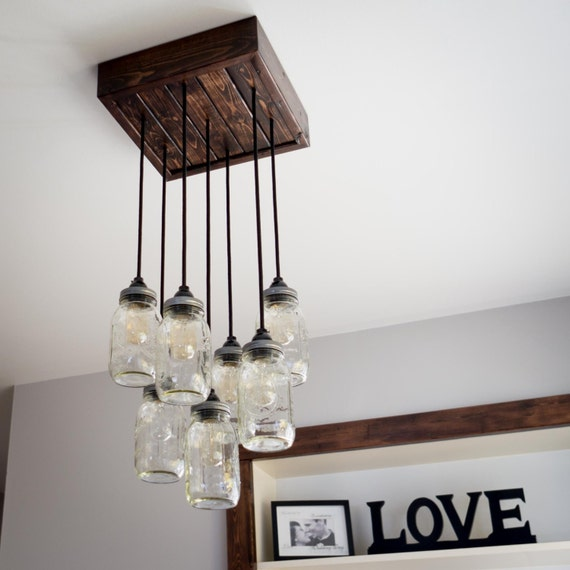 Edison Bulb Chandelier Mason Jar Lighting Mason By: Mason Jar Chandelier Includes Edison Bulbs