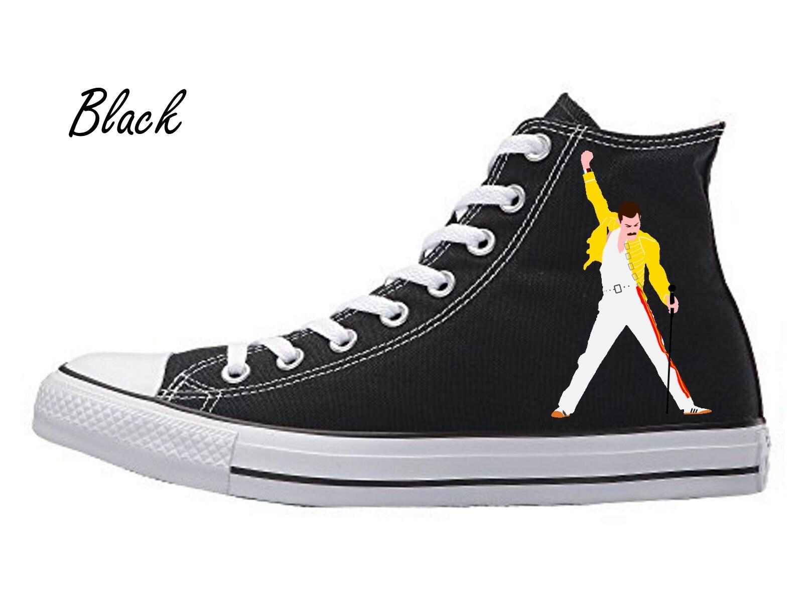 b071e796fc8 Freddie mercury sneakers converse chuck taylor all star high etsy jpg  1600x1200 Harlequin chuck taylors