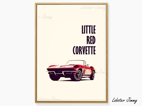 Little Red Corvette Prince Digital Art Ready To Print Etsy