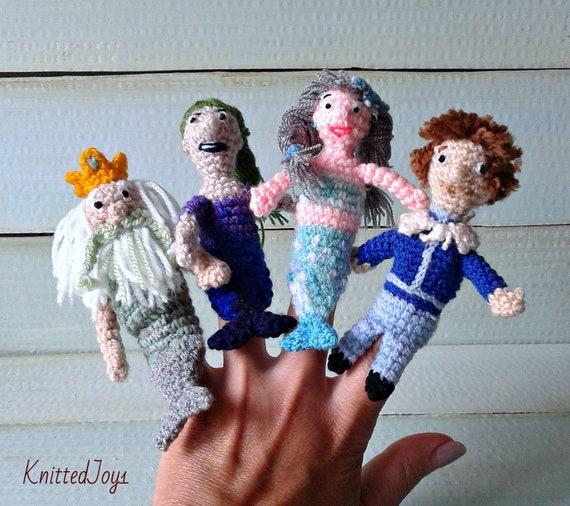 Häkeln Sie Meerjungfrau Fingerpuppen Meerjungfrau Meerjungfrau Etsy