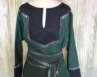 Celtic tunic two shades of color, warrior, noble, larp,