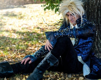 Jareth the Goblin King Labyrinth, Cosplay, man costume, Larp, Renaissance costume, David Bowie,