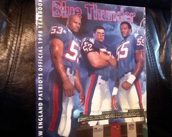 124de1eb4 1998 New England Patriots Yearbook - Blue Thunder - White LightninG Kraft Drew  Bledsoe
