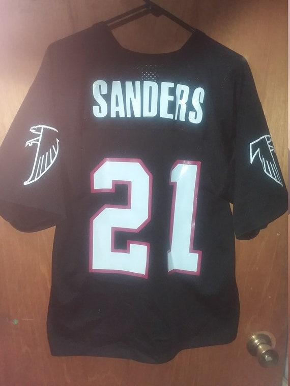 273e8689f5f58 Authentic Deion Sanders 21 Atlanta Falcons Jersey Logo 7 | Etsy