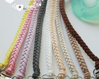 3 for 25!! Leather Braided Pacifier Clip Leather Paci Clip Leather Binky Clip Soothie Clip