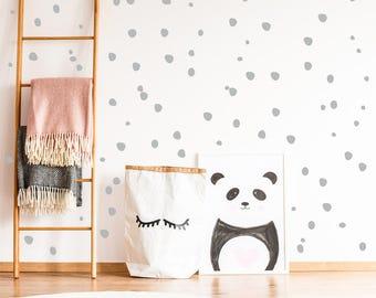 Behang Met Stippen : Pastel stippen muur stickers met vinyl dot stickers rainbow