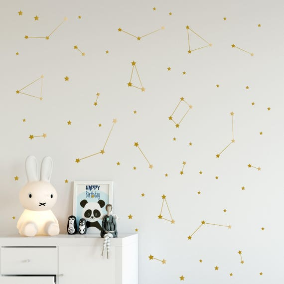 Constellation wall decal Zodiac Astronomy stickers Gold | Etsy