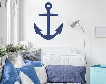 Anchor decal, nautical nursery decals, nautical wall decals, anchor nursery decal, wall anchor decals, nautical nursery, anchor #014