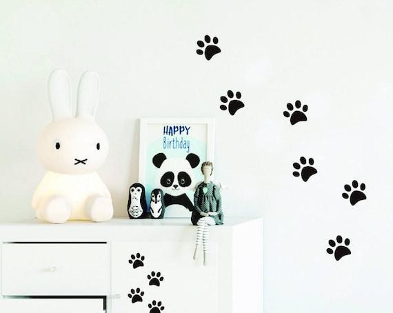 22 Walking Paws Decal Home Decor Bear Dog Cat Footprints Room Wall Sticker