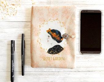 b5d5699f09f Portefeuille bohème en tissu pour femme, pochette pour accessoires de  rangement sac, pochette de voyage, portrait aquarelle, pochette bobo