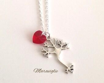 Neuron Necklace, Neuroscience Necklace, Biology Jewelry, Graduation Gift