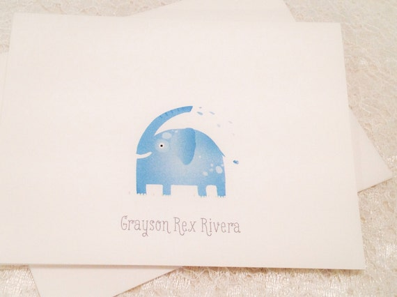 Personalised Children/'s Note Card Thank You Set Animals Design 10 cards