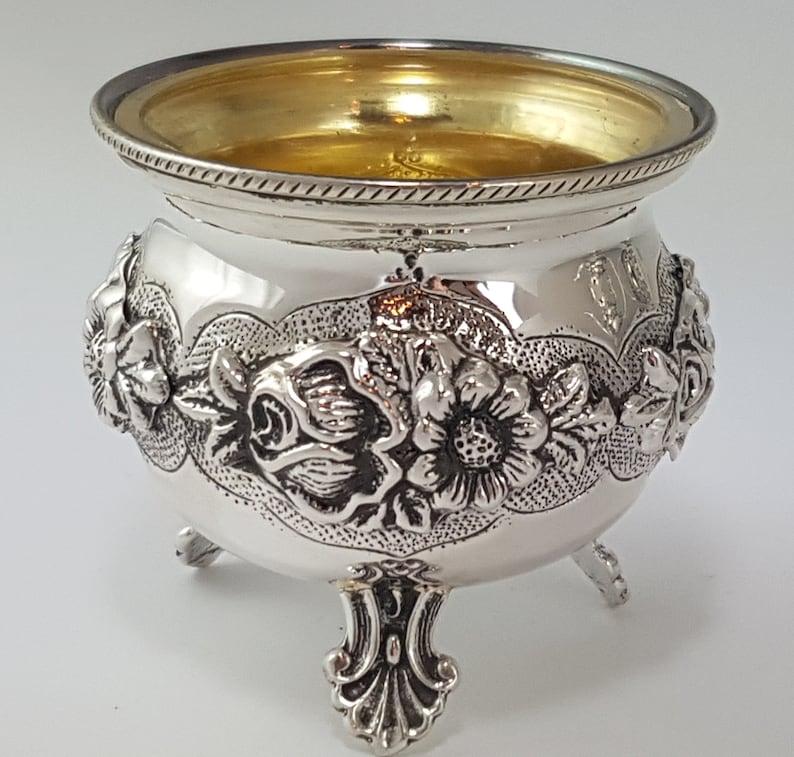 Hallmarked vintage Sterling silver salt pot