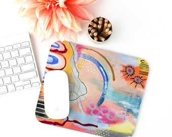 Mousepad - Modern Art Abstract Hand painted Gouache Reproduction Desk Accessory