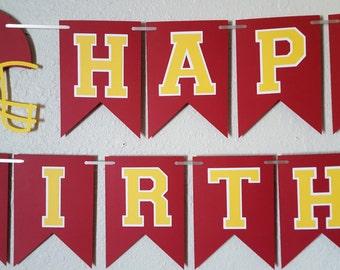 Football Birthday Banner, Sports Birthday Banner, Football Birthday Party, USC, Sports Birthday Party, Sports Decor, Football decor