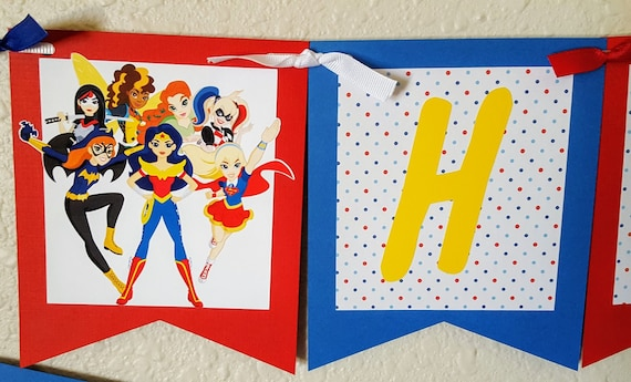 DC Superhero Girls Birthday Banner Supergirl