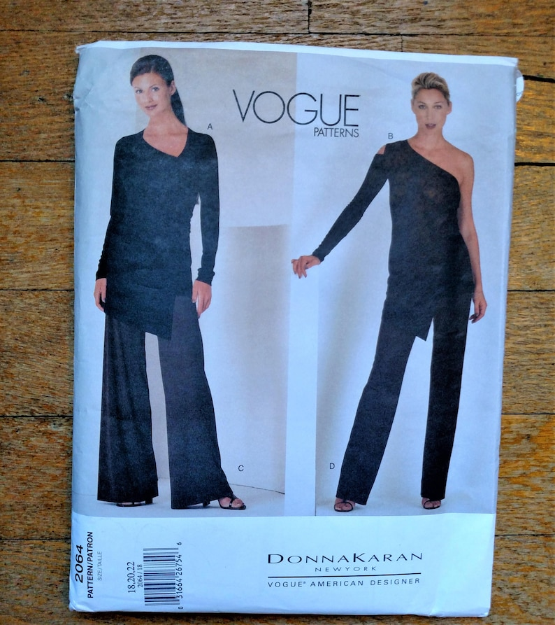 Vogue Pattern 2064 By Donna Karan Top Pants Tunic NEW UNCUT