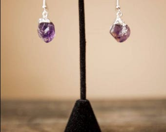Amethyst Crystal Earrings/ Crystal Earrings/ Crystal Jewelry/ Gifts for Girls/ Xmas Gifts/ Unique Christmas Gifts/ Stocking Stuffers