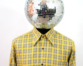 Vintage Yellow Checkered Shirt