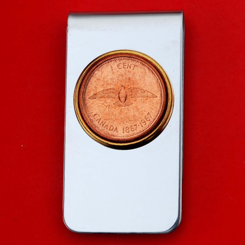1967-Kanada 1cent BU Stempelglanz Münze Gold Silber zwei