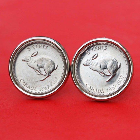 1967 Centennial Rabbit 5 Cents nickel *** UNC