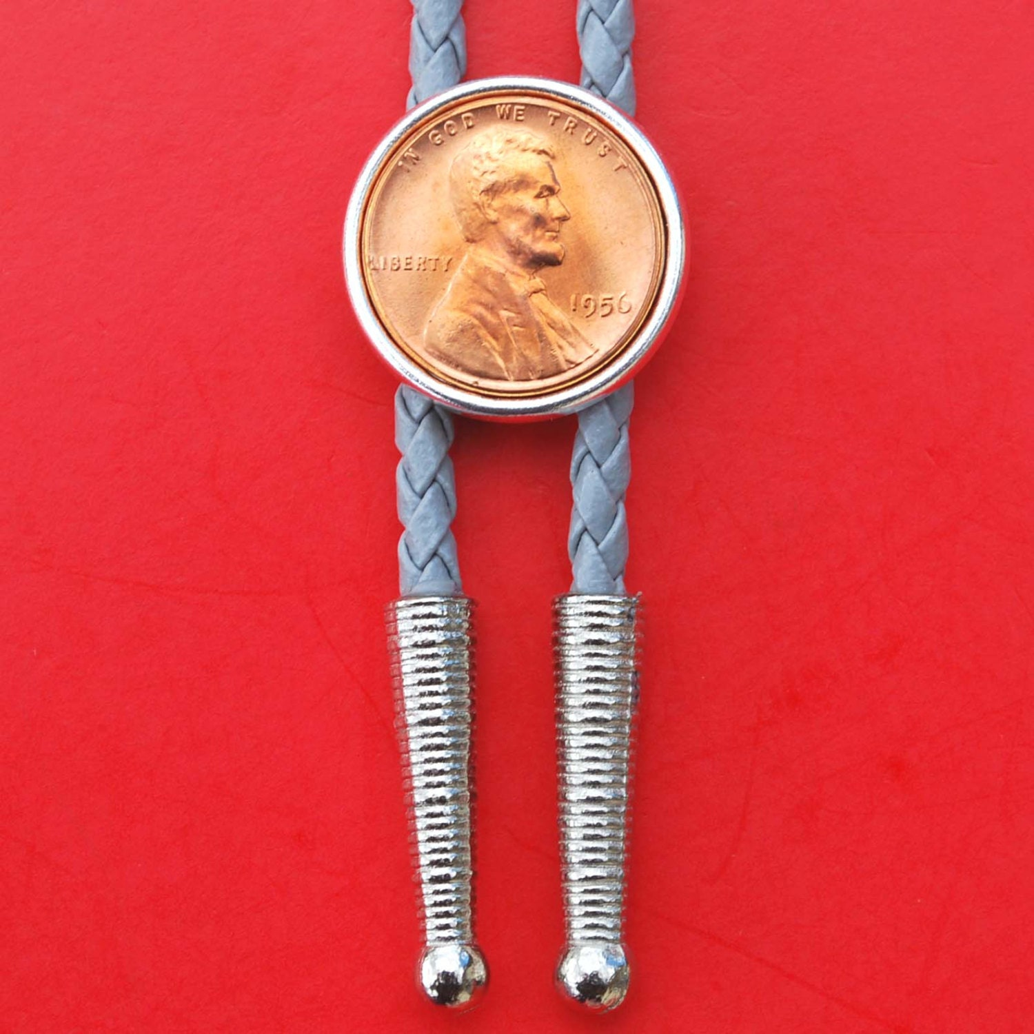 US 1977 Lincoln Small Cent BU Uncirculated Coin Gold Silver Two Tone Key Chain Ring Bottle Opener NEW Lucky Penny