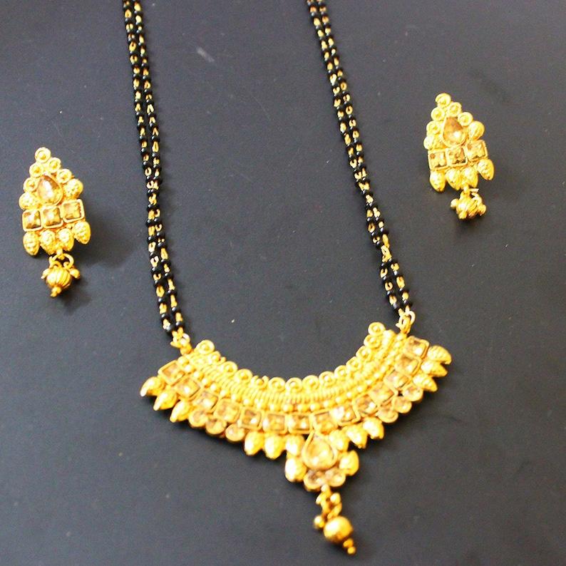 Ethnic Indian Traditional Gold Tone Kundan Pendent Necklace Set Women Jewellery Reasonable Price Engagement & Wedding