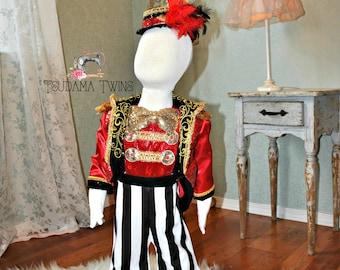 Ringmaster, Circus Birthday, Circus Ringmaster costume, Circus Ringmaster, Circus Costume, Carnival Birthday, Circus Carnival outfit