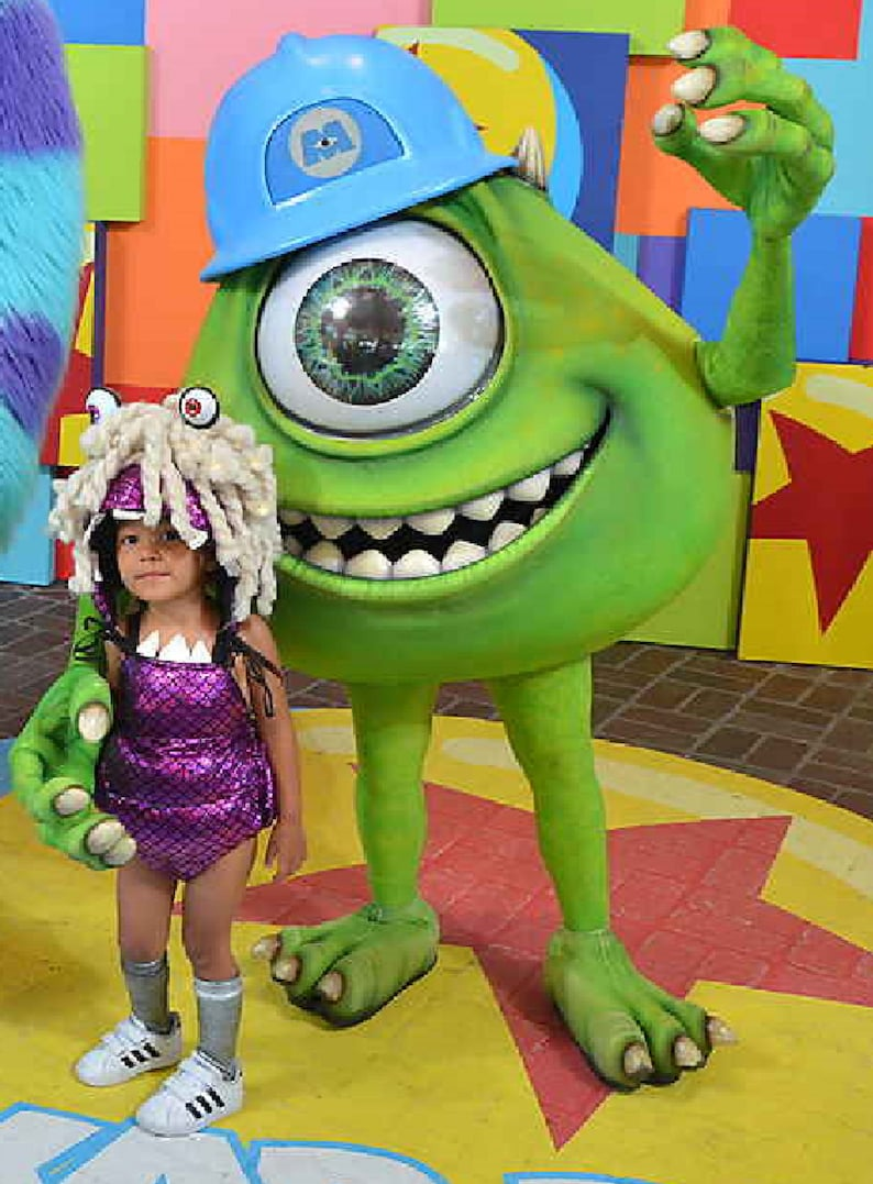 Boo Costume, Boo Monsters Inc Costume, Monsters Inc, Monster Inc Costume,  Boo Romper, Boo Costume, Sulley Monster Inc Costume, Boo Inspired