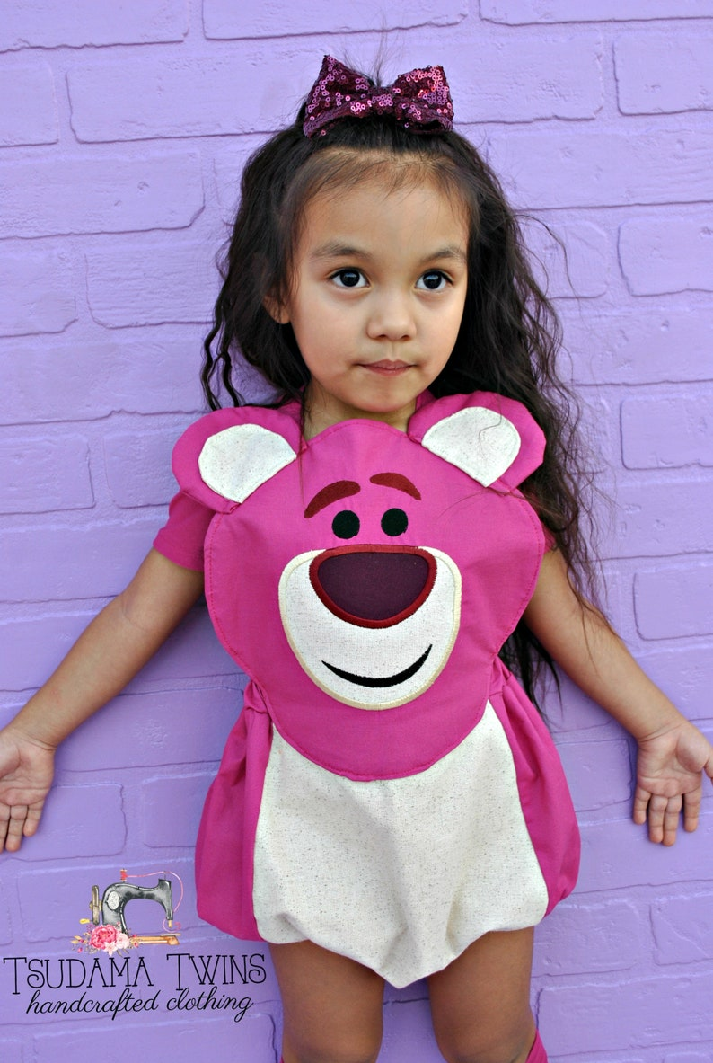 Lotso inspired Costume Toy Story Romper Lotso Toy Story Lotso costume Toy Story inspired Outfit Lotso toy story Costume Girls Outfit