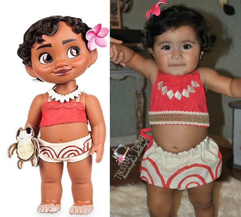 0f81d9f317f37 Baby Moana Costume, Baby Moana Birthday, Moana Outfit, Toddler Moana  Costume, Toddler Baby Moana Outfit