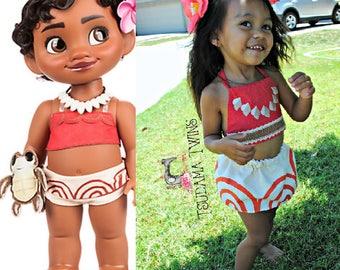 Baby Moana Costume, Baby Moana Birthday, Moana Outfit, Toddler Moana Costume, Toddler Baby Moana Outfit